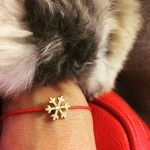 Silver+Surf Jewellery Snow crystal Gr S Gold