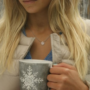 Silver+Surf Jewellery Snow crystal Gr S
