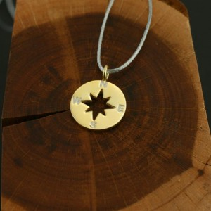 Silver+Surf Jewellery S wind rose gold plated