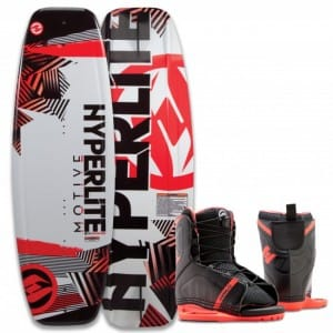 PACHET WAKEBOARD HYPERLITE 2016 MOTIVE 119 JR WAKEBOARD + REMIX US K12/Y2 BOOTS