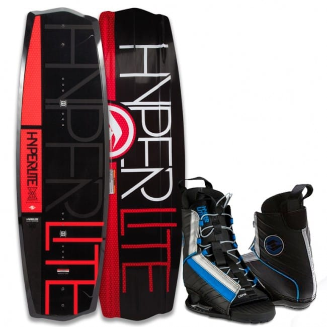 PACHET WAKEBOARD HYPERLITE 2016 STATE 2.0 140 WAKEBOARD + SPIN OSFA BOOTS