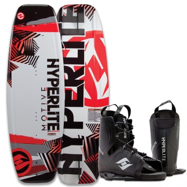 PACHET WAKEBOARD HYPERLITE 2016 MOTIVE 134 WAKEBOARD + FREQUENCY OSFA BOOTS