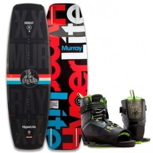 PACHET WAKEBOARD HYPERLITE 2016 MURRAY 150 WAKEBOARD + FOCUS BOOTS