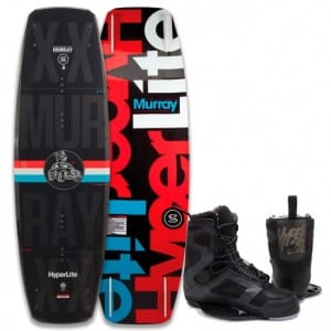 PACHET WAKEBOARD HYPERLITE 2016 MURRAY 150 WAKEBOARD + TEAM CT BLACK BOOTS
