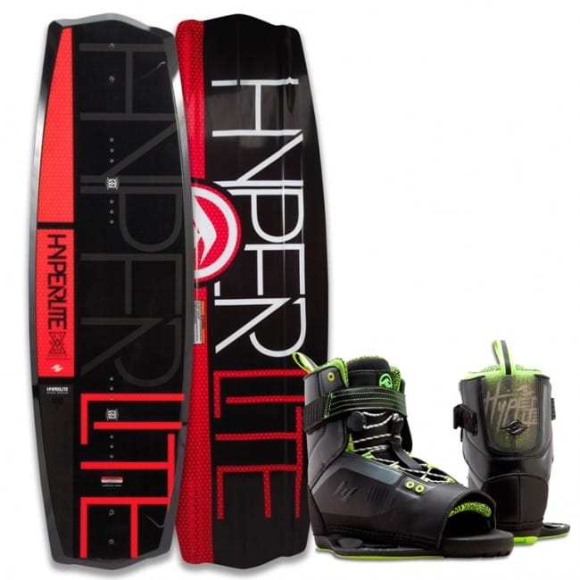 PACHET WAKEBOARD HYPERLITE 2016 STATE 2.0 130 WAKEBOARD + FOCUS BOOTS