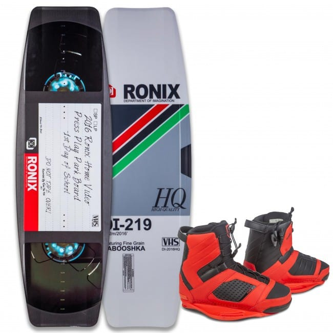 PACHET WAKEBOARD RONIX 2016 PRESS PLAY 146.3 WAKEBOARD + COCKTAIL BOOTS