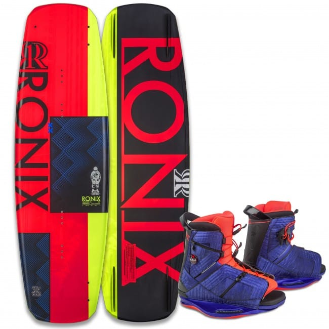 PACHET WAKEBOARD RONIX 2016 QUARTER 'TIL MIDNIGHT 130 WAKEBOARD + HALO BOOTS