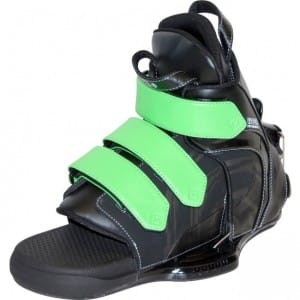 BOOTS WAKEBOARD CWB 2016 VAPOR RENTAL HINGE BINDINGS GREEN - XXLARGE