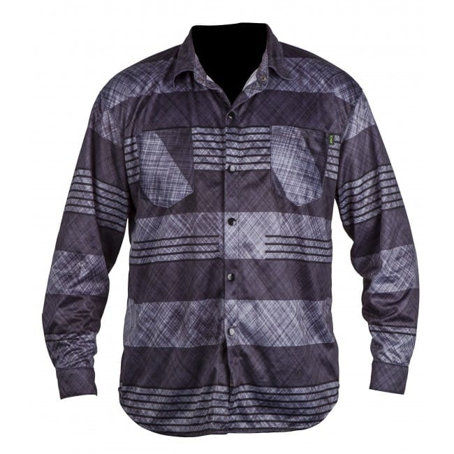 CAMASA WAKEBOARD RONIX 2016 FORESTER - QUICK DRY LONG SLEEVE RIDING JERSEY - GREY PLAID