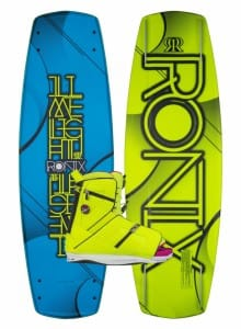 PACHET WAKEBOARD RONIX 2015 LIMELIGHT WAKEBOARD + HALLO BOOTS